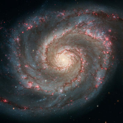 Whirlpool Galaxy, Hubble Image