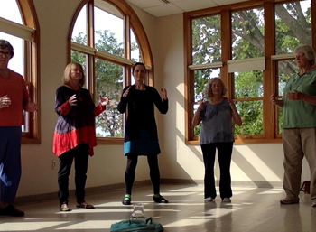 Practice Group Inside Breathing the Universe