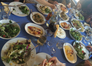 An extraordinary feast from the Dance and Culture tour in Lesvos, Greece led by Laura Shannon. My soul feels nourished just remembering this moment!